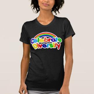 Vier Regenboog van de Trots van de Diversiteit de T Shirt