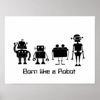 Vier Robots Poster