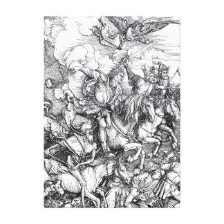 Vier Ruiters van de Apocalyps - Albrecht Durer Canvas Afdrukken