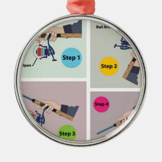 Vier Stappen om spinnende staaf te gieten met het Zilverkleurig Rond Ornament