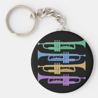 Vier Trompetten Sleutelhanger