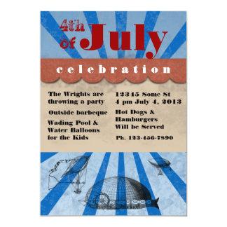 vierde van de Barbecue van de Dag van Juli 12,7x17,8 Uitnodiging Kaart