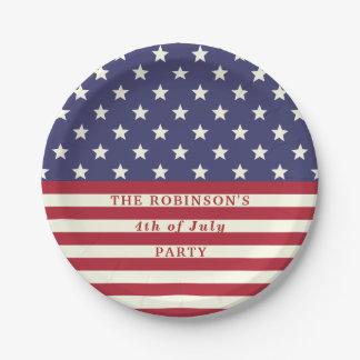 vierde van Strepen van de Sterren van de Vlag van Papieren Bordje