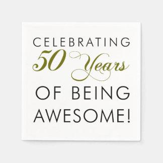 Vierend 50 Jaar van Geweldige het Zijn Wegwerp Servet
