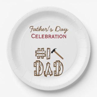 Viering van BBQ van het Vaderschap de Borden van Papieren Bordje