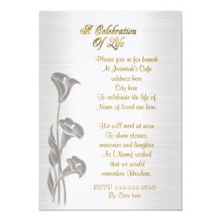 Viering van Calla van de het levensUitnodiging Kaart