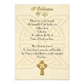 Viering van het de Keltische knoop & kruis van de Kaart