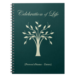 Viering van Register van de Gast van het Leven het Ringband Notitie Boek