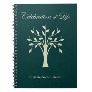 Viering van Register van de Gast van het Leven het Ringband Notitieboek