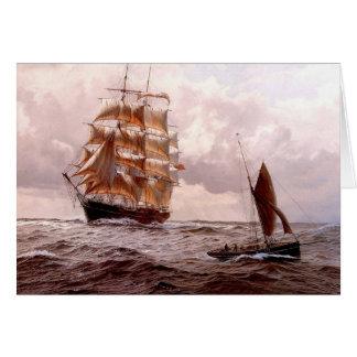 Vierkant-rigger-geregelde en traditionele op zee kaart