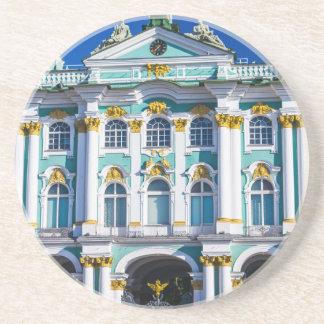 Vierkant St. Petersburg Rusland van het paleis Zandsteen Onderzetter