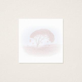 vierkant visitekaartje met de lente bloeiende boom vierkante visitekaartjes