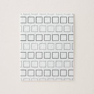 Vierkant Zwart-wit Minimalistisch Patroon Legpuzzel