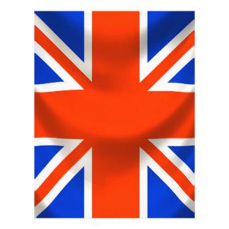 vierkante Engelse vlag Gepersonaliseerde Folder