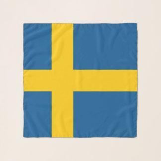 Vierkante Sjaal met vlag van Zweden