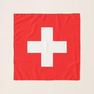 Vierkante Sjaal met vlag van Zwitserland