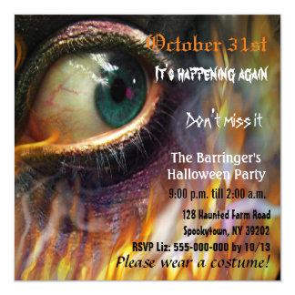 VIERKANTE Uitnodiging van Halloween van de Vlam