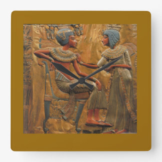 Vierkante wallclock met Egyptische Scène Vierkante Klok