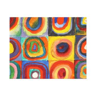 Vierkanten met Concentrische Cirkels door Gallerij Wrap Canvas