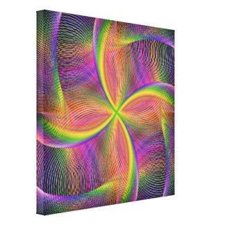 Vierkantige regenboog canvas afdruk