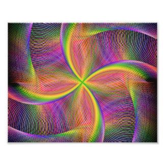 Vierkantige regenboog foto afdruk