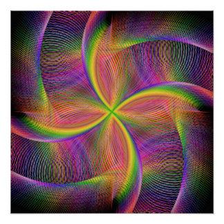 Vierkantige regenboog perfect poster