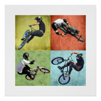 Vierling BMX, Copyright Karen J Williams Poster