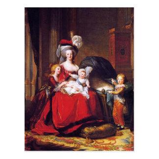 Vigée-Lebrun - Marie Antoinette en haar kinderen Briefkaart