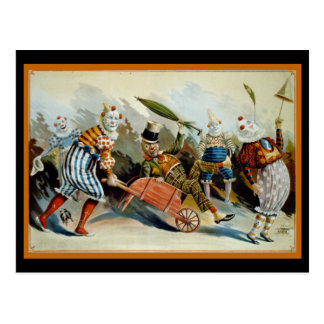 Vijf Clowns Briefkaart