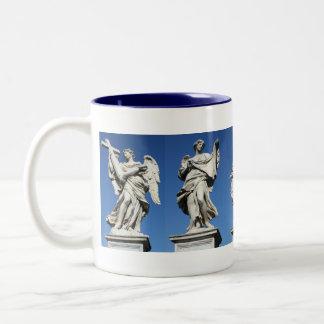 vijf engelen tweekleurige koffiemok