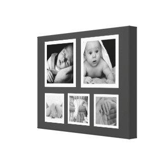 Vijf Foto's Fave met de Witte Collage van Lijsten Canvas Print