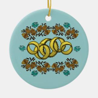 Vijf Gouden Ornamenten van Ringen