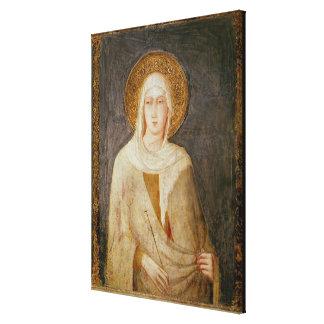 Vijf Heiligen, detail van St. Clare Canvas Afdrukken