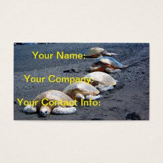 Vijf Luie Schildpadden die in het Zand liggen Visitekaartjes