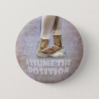 Vijfde Positie in Ballet Ronde Button 5,7 Cm