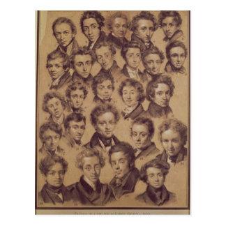 Vijfentwintig Leerlingen van de Studio van Antoine Briefkaart