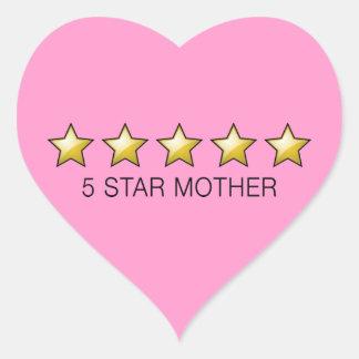 vijfsterren Moeder - de Giften van het Moederdag Hart Stickers