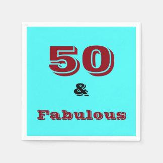 Vijftig en Fabelachtig vieringsservet Wegwerp Servetten