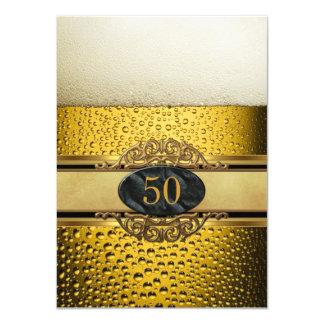 vijftigste bemant Partij van de Verjaardag van het 11,4x15,9 Uitnodiging Kaart