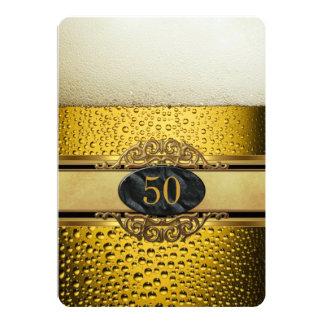 vijftigste bemant Partij van de Verjaardag van het 12,7x17,8 Uitnodiging Kaart