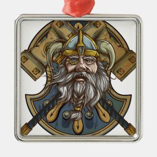 Viking Zilverkleurig Vierkant Ornament