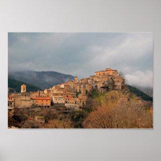 Villalago, Italië Poster