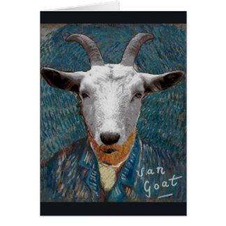 Vincent Van Goat/Gogh het ZelfPortret van de Briefkaarten 0