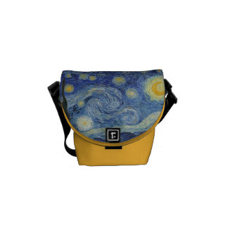 Vincent van Gogh   de Sterrige Nacht, Juni 1889 Messenger Bag