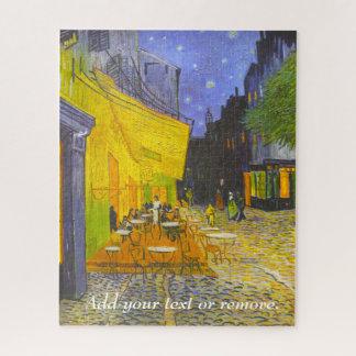 """Vincent van Gogh die het """"Terras van de Koffie bij Legpuzzel"""