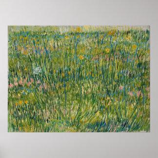 Vincent van Gogh - Flard van gras Poster