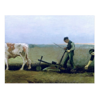 Vincent van Gogh   het Planten van de Arbeider en Briefkaart