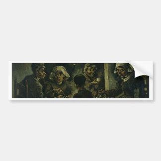 Vincent van Gogh Het Schilderen van de Eters van Bumpersticker