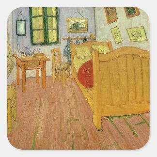 Vincent van Gogh   Slaapkamer, 1888 Vierkante Sticker