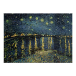 Vincent van Gogh | Sterrige Nacht over de Rhône Poster